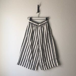 Madewell striped culotte pant.